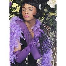Damas de 1920 Flapper Girl largos guantes lilas