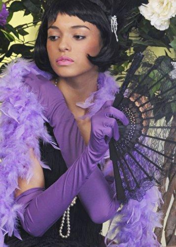 Struts Fancy Dress Damen der 1920er Jahre Flapper Girl lang lila ()