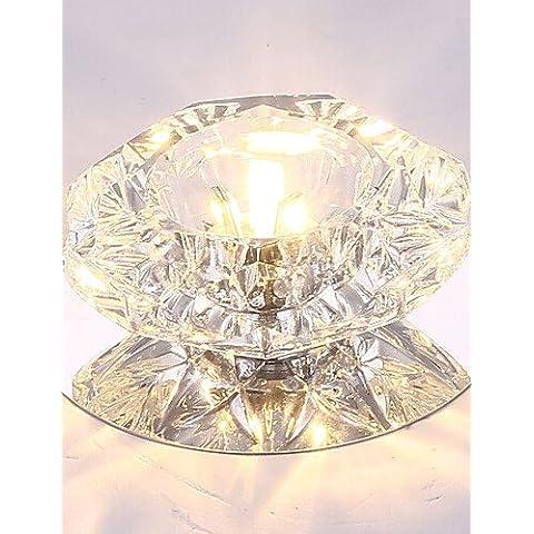 Illuminazione jiaily 5W Risparmio Energetico moderno soffitto LED LED Luce Cristallo luce a soffitto basso lampadina luce , bianco fresco-220-240v
