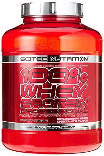 Scitec Nutrition Protein 100% Whey Protein Professional, Erdbeer-Weiße Schokolade, 2350g - 100% Whey Protein Erdbeere