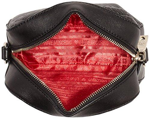Moschino Damen Jc4031 Umhängetasche, 7x13x18 cm Black