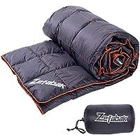ZEFABAK Down Blanket for Camping Indoor Outdoor Puffy 600 Fill Power Duck Down Cloudlet Blanket