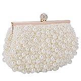 BAIGIO Clutch Damen Perlen Abendtasche Elegant für Hochzeit Party