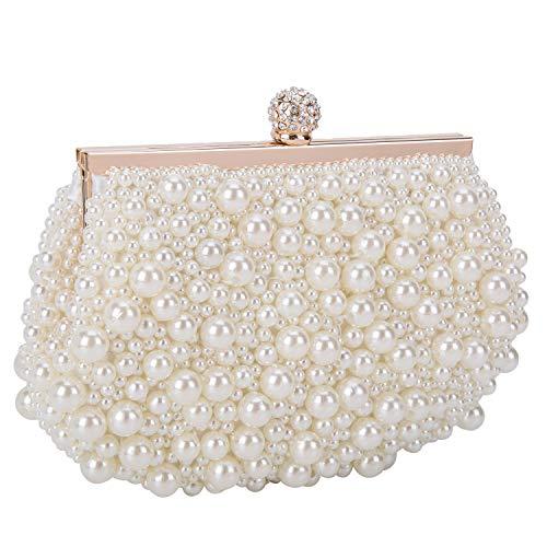 Perlen Abendtasche-clutch (BAIGIO Clutch Damen Perlen Abendtasche Elegant für Hochzeit Party)
