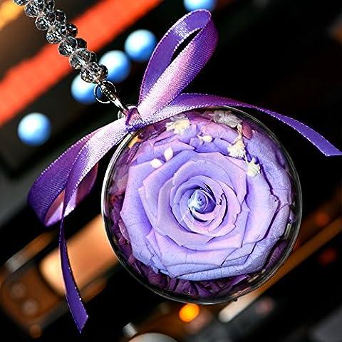 Zallx Hôtel Moderne Et Minimaliste Rétroviseur Voiture Hanging Ornaments,Purple
