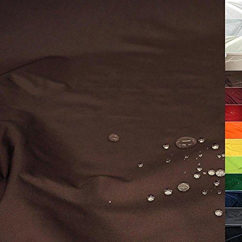 TOLKO Sonnenschutz Nylon Planen-Stoff Meterware - 180 cm Breit, Wasserdicht, Reißfest und Blickdicht als Universal Outdoorstoff Zum Nähen (Dunkelbraun) (Stoff Wasserdichtes Zelt)