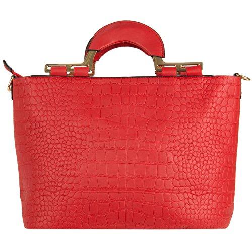 VanGoddy Samba Serie Borsa a spalla donna borse a mano ecopelle borsa messenger Shopping Bag (Rosso)