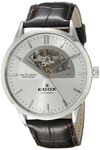 Edox Men's 85014 3 AIN Les Vauberts Analog Display Swiss Automatic Brown Watch