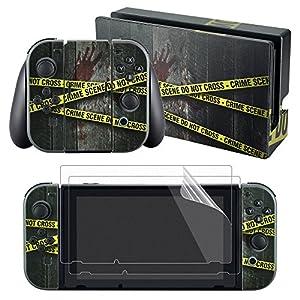 eXtremeRate Sticker Skin Aufkleber Decal Folie Abziehbild Faceplates Klebefolie mit 2 Displayschutzfolie für Nintendo…