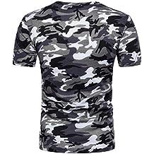 Tops De Camuflaje Casuales De Los Hombres,ZARLLE Hombres Casual Camiseta De Camuflaje Hombre Militares Camisetas Deporte Ropa…
