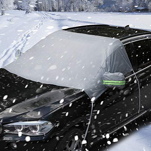 Auto Frontscheibe Sonnenblende Wasserdichter Außenschirm Mit Spiegelabdeckungen Bei Jedem Wetter Fit Für Die Meisten Autos, SUV Und Van