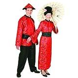 Chinesin : Kleid und Gürtel, Erwachsenen-Größe:40