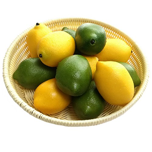 ünstliche Grün & Gelb Zitrone Deko Gefälschte Früchte Obst Party Festival Dekoration ()