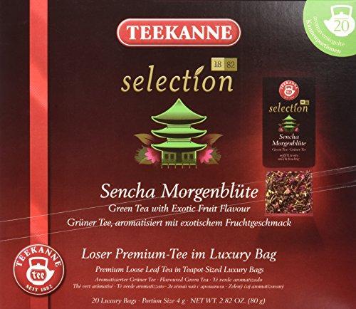 Teekanne Selection 1882 im Luxury Bag - Sencha Morgenblüte  -  mild, fruchtig, 20 Portionen, 1er Pack (1 x 80 g) Exotischer Grüner Tee