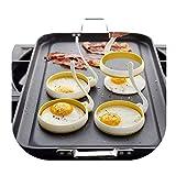 Gluckliy Rundschreiben Form Spiegeleier Kuchen mit Rundem Griff Kuchen Silikon für Frühstück