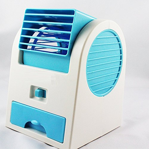 Imported Mini Small Fan Cooling Portable Desktop Dual Bladeless Air...