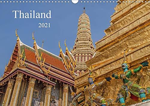 Thailand (Wandkalender 2021 DIN A3 quer): Buddhistische Tempel in Thailand (Monatskalender, 14 Seiten ) (CALVENDO Orte)