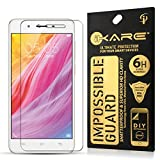 VIVO Y55L Tempered Glass, iKare Impossible Fiber Tempered Glass Screen Protector for VIVO Y55L (REUSABLE, ULTRA CLEAR, REAL SHOCK PROOF, UNBREAKABLE)