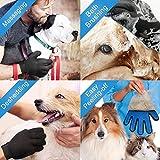 Haustier Bürsten Handschuh Fellpflege-Handschuh Grooming Massagehandschuh Hundebürste Katzenbürste Fellbürste für Hunde Katzen JAANY - 8