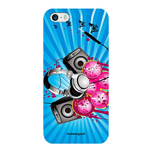 HomeSoGood Music Is Passion Blue 3D Mobile Case For iPhone 5 / 5S (Back Cover)