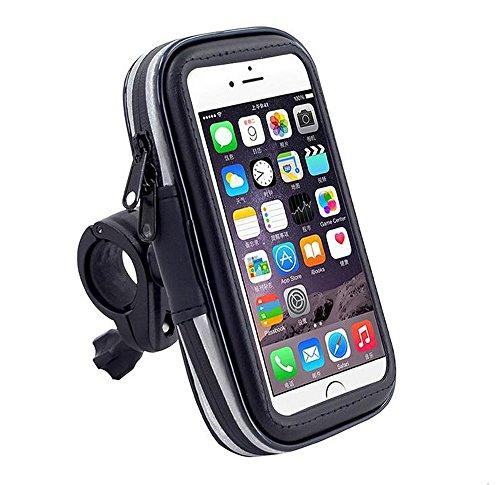 Bike phone halter, MOACC Universal Wasserdicht Fahrrad Lenker Handy Halterung Ständer für Apple iPhone und Android (bis zu 14cm)