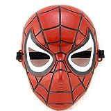 5-8 años - Máscara de disfraces - Disfraz - Carnaval - Halloween - Spiderman - Superhéroe - Hombre araña - Rojo - Niño