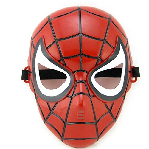 te ♛ 5 - 8 Jahre - Maske für Kostüm Verkleidung Karneval Halloween von Spider Man Super Held Mann Spinne Rot Männliches Kind (Spiderman Kostüme Ideen)