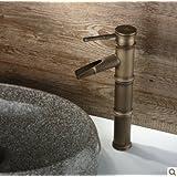 Hanmei cobre caliente y fría baño grifos para lavabo sobre encimera grifo antiguo