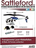 Sattleford Film autocollant format A4 pour imprimante laser 20 feuilles transparent