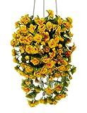 Rosen gelb hängend 50 cm Kunstpflanze Kunstblume