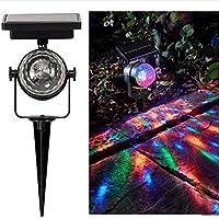 Lumière Solaire Projecteur,Sensail Rotatif étanche Paysage Coloré Spot Solaire Extérieur