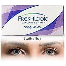 c2bd00a2306ac FreshLook Colorblends UV Gris Acero Lentes de contacto de color (R  8.6   D