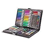 AI-HOME 108 pezzi Set di disegni artistici for artisti, set di pennarelli colorati con disegno a matita con pennarello a olio e disegno a pennello Set di arte professionale Regalo for bambini Bambini