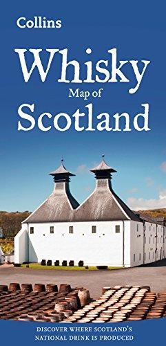 Whisky en Escocia. Mapa plegado. Varias escalas. Collins. (Collins Pictorial Maps)