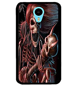 ColourCraft Rockstar Skeleton Design Back Case Cover for MEIZU M1 NOTE