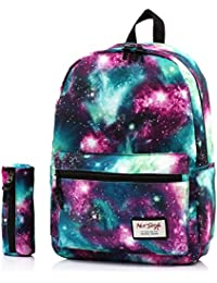 TRENDYMAX Cartable Galaxy Sac a Dos Ecole, 20 Liters