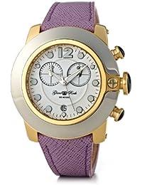 Glam Rock–SB3005–SoBe Damen-Armbanduhr–Quarz Chronograph–Weißes Ziffernblatt–Armband Leder rosa