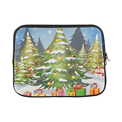 JSXMNA Design benutzerdefinierte Weihnachtsbaum Schneeflocke Schnee Geschenke Winter hülse weiche Laptop Tasche Tasche Haut für MacBook air 11