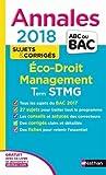 Economie-Droit, Management des organisations Tle STMG : Sujets & corrigés