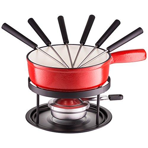 Style'n Cook Käsefondue Eisenguss Set 9-teilig inkl. Fondue-Gabeln
