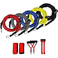 RLIRLI Cuerda de Fitness para Entrenamiento de Fuerza Cuerda de Resistencia para Entrenamiento condicional, Ejercicio de Kit de Banda de Resistencia apilable, Mejor para Principiantes