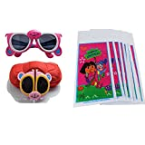 KIDS Folding Sunglasses Goggle Cartoon Animal Shape Best RETURN GIFT FOR Birthday Party SET 12 and 12 Birthday Printed Bags Free