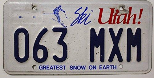 US Nummernschild UTAH Kennzeichen # USA License Plate # Blechschild