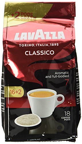 Lavazza Caffè Crema Classico 16 plus 2 Pads, 4er Pack (4 x 125 g)