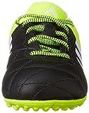 adidas ACE 15.3 TF J Leather, Jungen Fußballschuhe, Mehrfarbig (Black / Green / White), 30 EU (11.5 Kinder UK) -