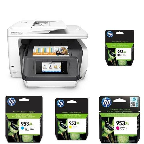 HP OfficeJet Pro 8730 Multifunktionsdrucker weiß + HP 953XL Multipack -