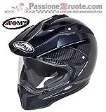 Suomy KSME0002.3 Casco Moto, Argento/Nero, S