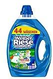 Weißer Riese Universal Gel, Flüssigwaschmittel, 2er Pack (2 x 2,2 Liter à 44 Waschladungen)