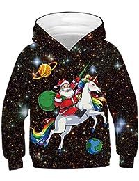 Ocean Plus Bambino Felpa con Cappuccio Manica Lunga Bambini e Ragazzi Stampa Digitale Unisex Poliestere Pullover Sweatshirt
