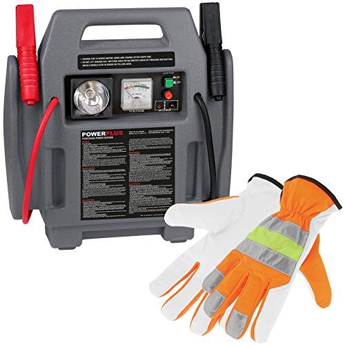 Preisvergleich Produktbild Starthilfe & Kompressor 4in1 12 Volt + Pannenhandschuhe